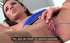 Twenty years old stud fucks female boss in her office
