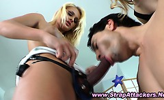 Femdom bitches dominating victim