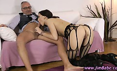 Teen ass rammed by old guy
