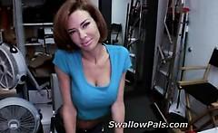 Big tits botox milf dances at casting