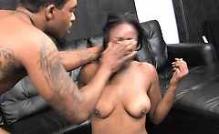 Black Slut Slapped Around During Rough Oral Session