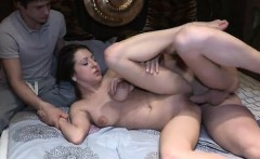 His adorable girlfriend getting screwed hard
