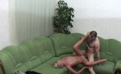 horny sliding on butter smooth pussy hole