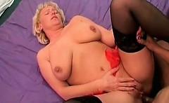 Horny blonde slut banged hardly