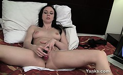 Cute Brunette Ivy Toying Her Pussy