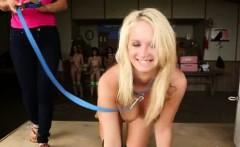 Hazing auction with naked bondage teens