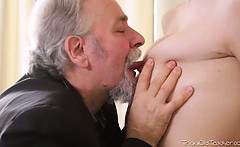 ritas teacher is one horny old man, so she lets him lick