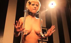 Dominated lesbo nipples clamped