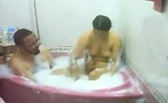 Indian Woman Having A Bath