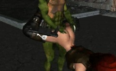 3d lara croft getting fucked hard by a ninja turtle