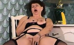Fat Russian Masturbating