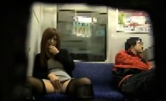 Japanese Girl Orgasming On The Subway
