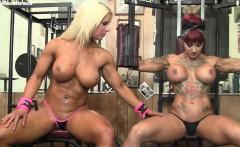 Dani Andrews and Megan Avalon Muscle Lesbians Again