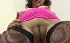 George Vibrates Her Mature Pussy Hard