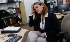 Sexy business woman having sex with nasty pawnkeeper