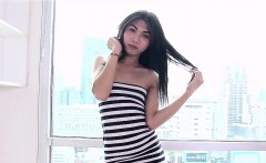 Asian ladyboy Amay loves to show her gaping ass