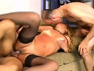 mILF Slut With Two Bisex guys