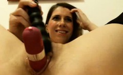 Webcam Girl Uses All of Her Toys