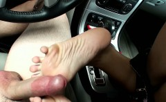 Natasha White Gets Stranded and Has to Give a Footjob