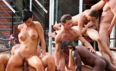 interracial bi orgy cums