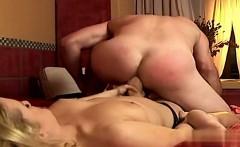 Sexy slut cum eating