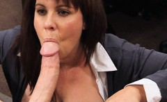 Busty milf fucked to earn money for her husbands bail