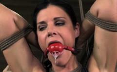 Crotch rope bondage sluts dress cut off