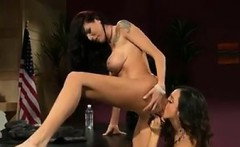Hot And Horny Lesbians In The Office