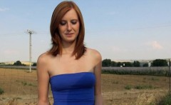 Cute Czech girl Linda Sweet screwed up in an open field