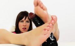 Awesome Leony Presents Her Beautiful Feet Soles