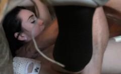 Sexy schoolgirl Aria Alexander slides hard cock in her muff