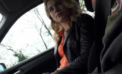 Cute amateur blonde teen Nishe pussy fucked in the car