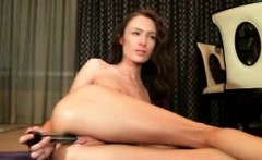 Slim girl creamy squirt with anal dildo