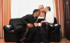 Busty Jessica Moore in anal threesome action