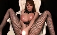 Busty Asian Wearing Lingerie Masturbates