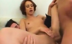 Cute Redhead Being Double Penetrated