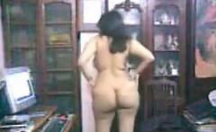Curvy Arab Woman Teasing Her Thick Body