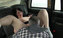 Real amateur passenger sucks and banged in the backseat