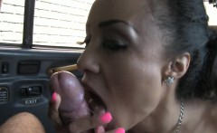 Curvy big boobs amateur passenger banged by fake driver