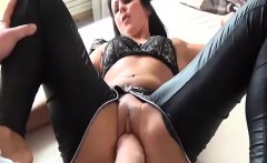 Hot brunette milf gets a brutal fisting in her greedy pussy