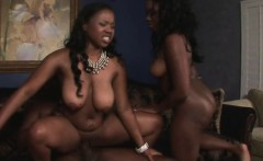 Huge Ass Black Ghetto Bimbos Riding Dick In Threesome