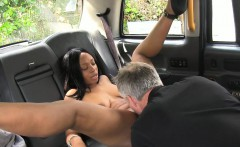 Naked black woman fucked by horny driver in london taxi