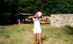 Cute Russian Girl Sucking Cock Outdoors