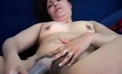 Mature And Hairy Woman Masturbating