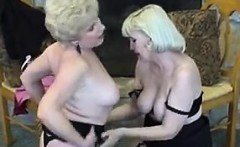 Blonde Lesbian Grandmothers Get It On