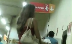 great brazilian ass in shorts at a store