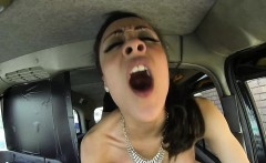 Busty Brunette Bitch gets fucked by her Friend driver