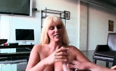 Voluptuous MILF banged doggy style on sofa