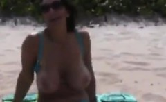 Wife Flashing Outdoors At The Beach POV