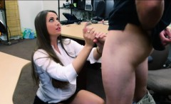 Big ass amateur brunette babe banged by horny pawn man